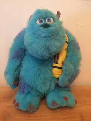 """Disney Monsters Inc 2000 Bedtime Sulley Talking Glowing Sully Soft Plush Toy 14"""""""