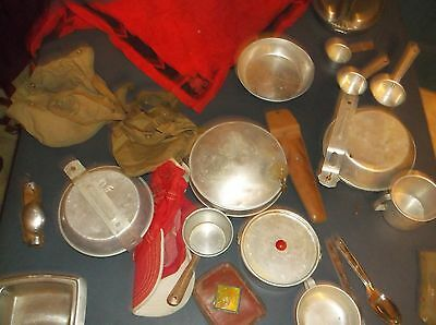 Large Lot Of Mostly Boy Scout  Items Canteens,uniform,aluminium Ware,scarf