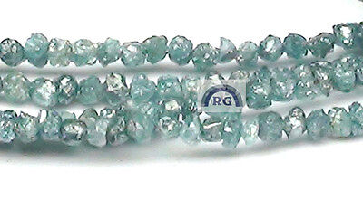 1.06 Ct Natural Real Uncut Blue Rough Diamond Drilled Bead 1.9-3.0 Mm Lot Parcel
