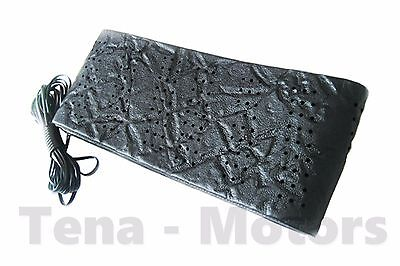 Steering Wheel Protector Cover Lace Tie Up Leather Look Perforated Black Size M