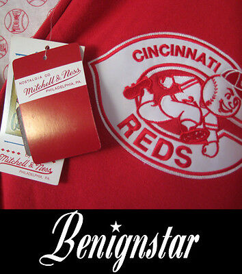 Cincinnati Reds MLB Baseball Jersey Jacket Hoodie Mitchell and Ness