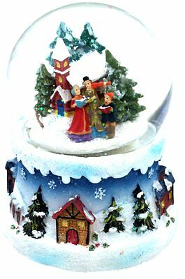Musical snow globe featuring carol singers - tune is Joy to the World