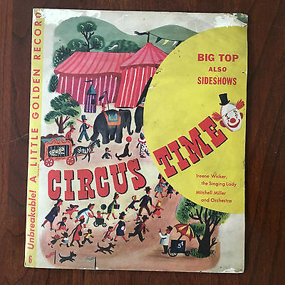 VINTAGE - A LIITLE GOLDEN BOOK CIRCUS TIME 1948 - 1st EDITION
