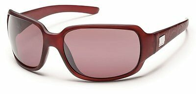 SunCloud Womens Cookie Sunglasses with Polarized Lens 2014 Merlot Laser Rose