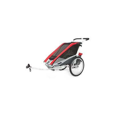 Thule Chariot Cougar 2 Child Carrier inc. Cycle Kit - Red/Silver/Grey