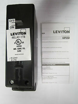 Leviton Relay-1TB 1 Pole Black GreenMAX Relay 30A, Latching, Basic, 347VAC