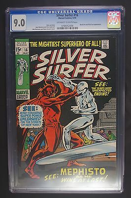 Silver Surfer 16 first series CGC 9.0 WP 5/70