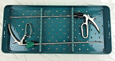 2 Weck Hem-o-lok Endoscopic Appliers in 544500 Storage and Sterilization Tray