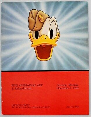 Howard Lowery Auction Catalog - Fine Animation Art & Related Items - 12/4/1989