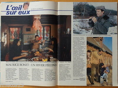 MAURICE RONET Coupure de presse 2 pages TELE 7 JOURS 1981 - French clipping