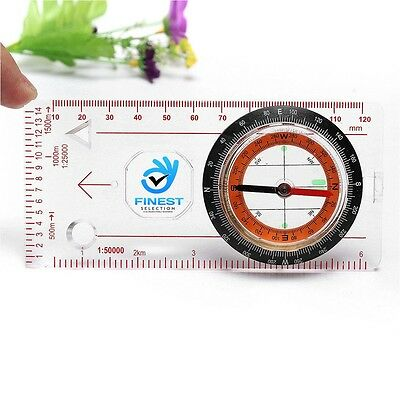 Magnifying Compass Army Scouts Hiking Camping Boating Map Reading Orienteering