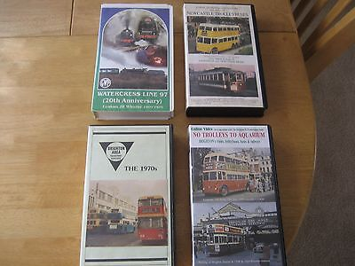 4 collectable videos of past transport trains trams and buses