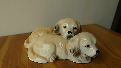 Leonardo Collection Spaniels Lying Down Ceramic Pottery Figurines