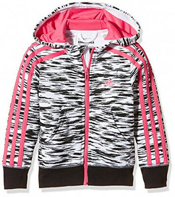 Size 13/14 Years Old 2Xs - Adidas Originals 3 Stripes Full Zip Hooded Top  Multi