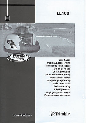 New Spectra Precision Laser LL100 User Guide/Manual