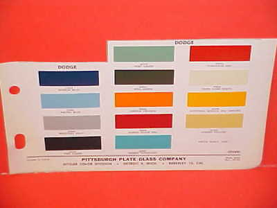 1962 Dodge Pickup Truck Town Power Wagon Sweptline Stake Panel Van Paint Chips