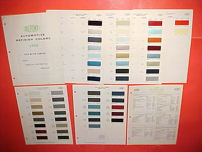 1966 Ford Lincoln Mercury Mustang Thunderbird Exterior + Interior Paint Chips