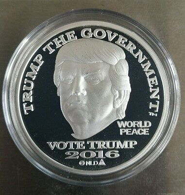 Donald Trump 1 oz .999 silver dollar proof like Make America Great Again