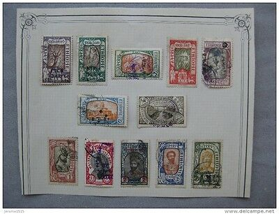 timbres Ethiopie 1919 - 1930 YT n° 117, 120, 121, 136, 142, 149, 150 ...