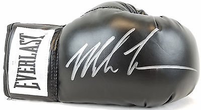 Mike Tyson Signed Black Everlast Right Handed Boxing Glove JSA Witness Autograph