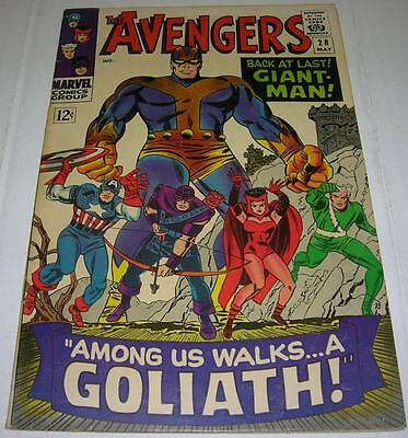 AVENGERS #28 (Marvel Comics 1966) 1st appearance of THE COLLECTOR (FN-) RL