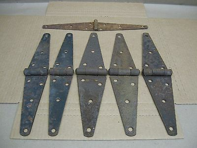 """Antique Old Iron Door Strap 12"""" Hinges Rusty Gate Barn Hardware Sets & Singles"""