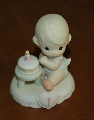 Precious Moments Growing In Grace Blonde Age 1 Birthday Figurine 1st  #136190