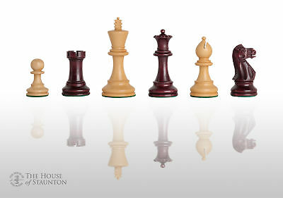 """The Grandmaster Chess Set - Pieces Only - 3.25"""" King - Purpleheart Gilded"""