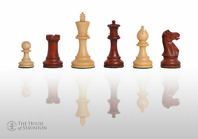 """The Grandmaster Chess Set - Pieces Only - 4.0"""" King -  Mahogany Gilded"""