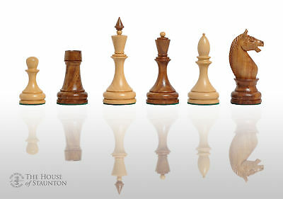 """The Minsk Chess Set - Pieces Only - 3.75"""" King - Golden Rosewood"""
