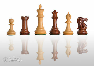"""The Congress Chess Set - Pieces Only - 3.75"""" King - Golden Rosewood"""
