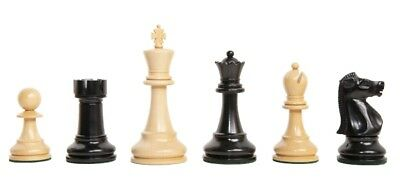 "The Fischer Luxury Chess Set - Pieces Only - 4.4"" King - Genuine Ebony"