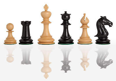 """The Blackpool Luxury Chess Set - Pieces Only - 4.4"""" King - Genuine Ebony"""