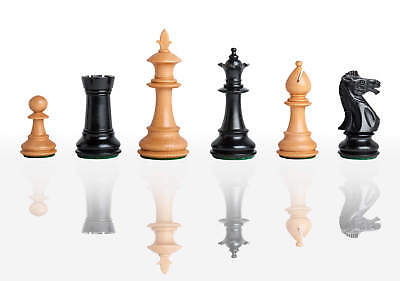 """The Royale Series Chess Set - Pieces Only - 4.0"""" King - Ebonized Boxwood"""
