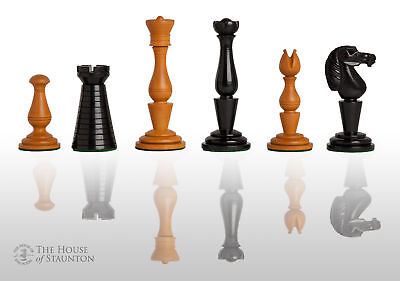 """The Strand Luxury Chess Set - Pieces Only - 4.4"""" King - Genuine Ebony"""