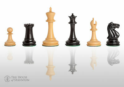 """The Leeds Luxury Chess Set - Pieces Only - 3.75"""" King - Genuine Ebony"""