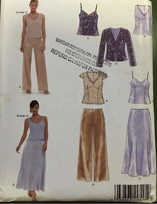 New Look 6558 Sewing Pattern Skirt Pants Tops Jacket Plus Size 8 10 12 14 16 18