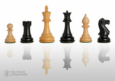 """The Classic Chess Set - Pieces Only - 4.4"""" King - Ebonized Boxwood"""