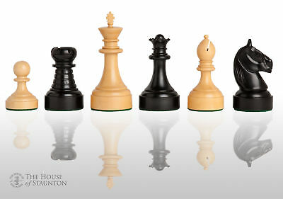"""The Mechanics Institute Commemorative Chess Set - Pieces Only - 4.25"""" King - Ebo"""