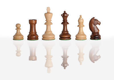 """The Modern Chess Set - Pieces Only - 3.75"""" King - Golden Rosewood"""