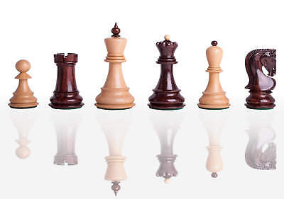 """The Zagreb '59 Chess Set - Pieces Only - 2.875"""" King - Indian Rosewood Lacquered"""