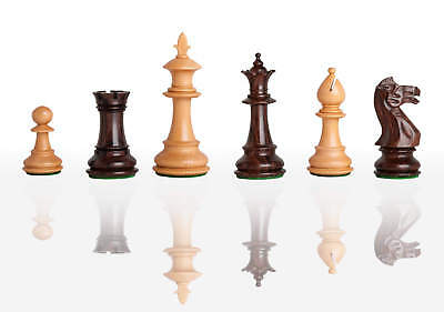 """The Royale Series Chess Set - Pieces Only - 4.0"""" King - Indian Rosewood"""