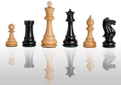"""The Classic Chess Set - Pieces Only - 6.0"""" King - Ebonized Boxwood"""