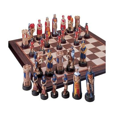 The Battle of Bannockburn Hand Painted Chess Pieces