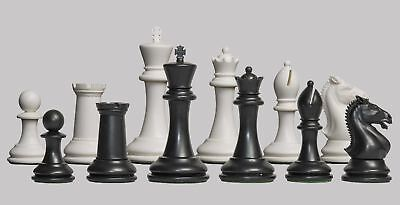 "The Hastings Plastic Chess Set - Pieces Only - 3.875"" King - Black & white"