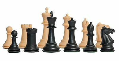 """The Marshall Library Plastic Chess Set - Pieces Only - 2.875"""" King - Black & Nat"""