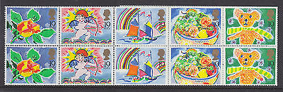 1989 sg 1423a Greetings Stamps + labels (10x19p) FY1 Booklet Pane mint MNH