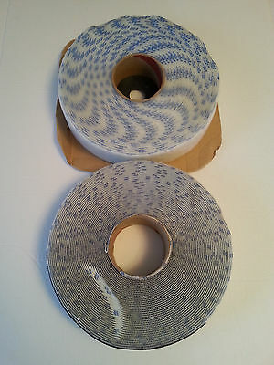 """Rolls of self adhesive Velcro hook and pile 186636 White 2"""" 50mm FREE Shipping!!"""