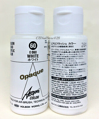Holbein AEROFLASH - E060 WHITE Opaque Airbrush Paint Color 35ml