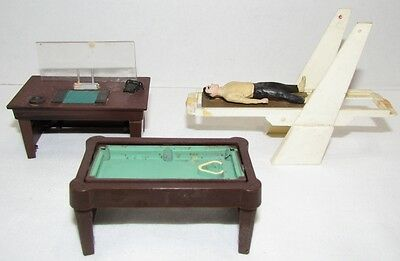 1965 Gilbert James Bond Accessories from figure sets: pool table, desk, laser